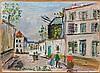 Maurice UTRILLO 1883 - 1955 LE MOULIN DE LA GALETTE A MONTMARTRE - Circa 1943-1945 Huile sur carton marouflé sur panneau