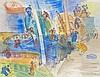 Jean DUFY 1888 - 1964 BATEAUX DE PECHE - 1928 Aquarelle et gouache sur papier