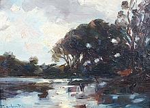 Francois CACHOUD (1866 - 1943) PAYSAGE Huile sur panneau