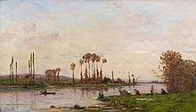 Hippolyte Camille DELPY (1842 - 1910) LES LAVANDIERES Huile sur panneau