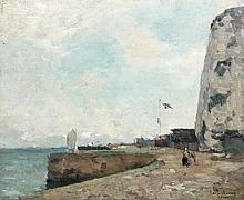 Albert LEBOURG (1849 - 1928) DIEPPE Huile sur toile
