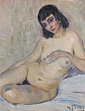 Mario TOZZI (1895 - 1979) LA COURTISANE - Circa 1920 Huile sur toile