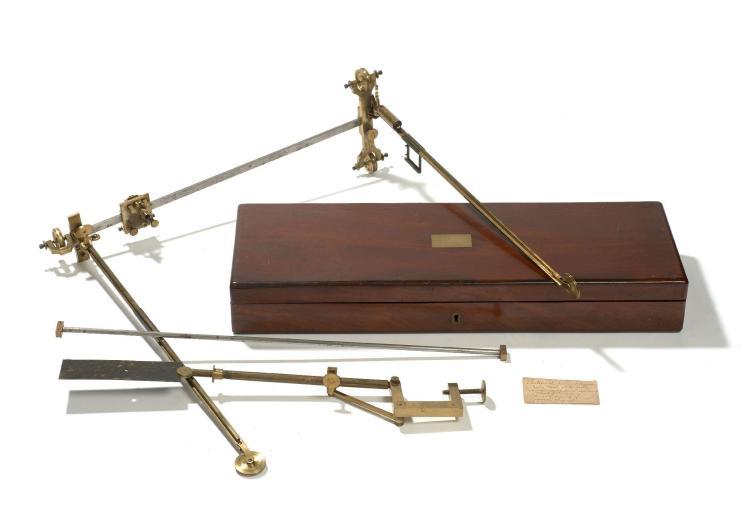 DIAGRAPHE EN LAITON ET ACIER COMPLET, VERS 1835 Signé deux fois 'Par Brevet d'Inven[tion] Gavard'