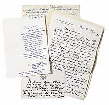 Gérard SCHNEIDER, ESTEVE, MATHIEU, HALICKA etc.  [correspondance]