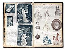 Recueil sur le THÉÂTRE, LES ARTS ET LA MUSIQUE  Album d'articles illustrés avec commentaires manuscrits par M. FONTET