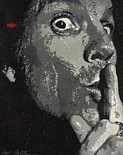JEF AEROSOL Français - Né en 1957 SECRET - 2011 Pochoir et peinture aérosol sur toile