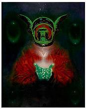 Nick WALKER Anglais - Né en 1969 APISH ANGEL - ANGEL AND THE BUTTERFLY- 2000 Pochoir et peinture aérosol sur toile