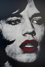 ¤ Russell YOUNG Anglais - Né en 1960 REGGIE KRAY, DO YOU KNOW MY NAME - 2008 Acrylique et sérigraphie sur toile