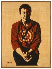 Shepard FAIREY (Alias OBEY GIANT) Américain - Né en 1970 JASPER JOHNS - 2012 Sérigraphie sur bois