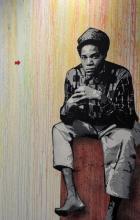 ¤ JEF AEROSOL Français - Né en 1957 JEAN-MICHEL - 2013 Pochoir et peinture aérosol sur toile