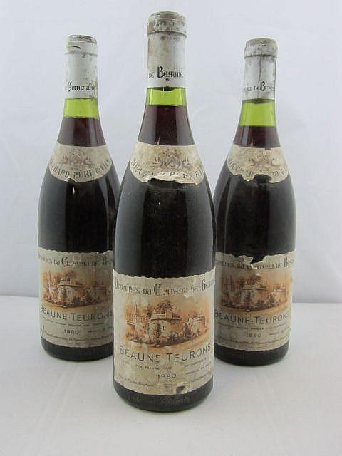 7 bouteilles BEAUNE  1980 1er cru Teurons