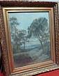 Louis-Auguste Auguin 1824-1904 Littoral  Pastel sur papier Signé en bas à gauche  64 x 50 cm
