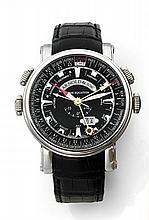 ARNOLD & SON HORNET WORLD TIMER, n° 242, vers 2010 Montre bracelet en acier