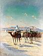 Alexis DELAHOGUE (Soissons, 1867 - 1936) La Caravane
