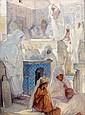 Jules Van BIESBROECK (Portici, 1873 - Bruxelles, 1965) Algériennes au cimetière de la mosquée Sidi Abder Rhamane