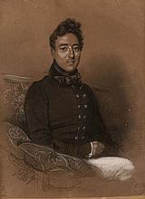 Jules Boilly Paris, 1796 - 1874 Portrait de jeune homme Crayon noir, fusain, estompe et craie blanche,
