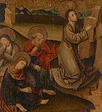 Ecole du Haut Rhin, vers 1500  Le Christ au Mont des Oliviers Huile sur panneau parqueté