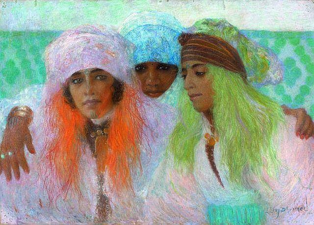 Lucien LEVY-DHURMER (Alger, 1865 - Le Vésinet, 1953) Beautés de Marrakech, circa 1930 Pastel sur papier