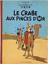 HERGÉ TINTIN N°9 LE CRABE AUX PINCES D'OR