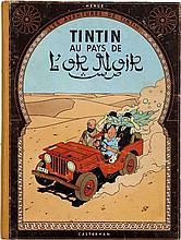HERGÉ TINTIN N°15 TINTIN AU PAYS DE L'OR NOIR