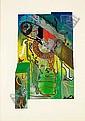SHUCK ONE (né en 1970 -) SERIES CHEMIN FUTUR - HOM OBJECT, 2000 Série de 4 oeuvres à la peinture aérosol et acrylique sur toiles