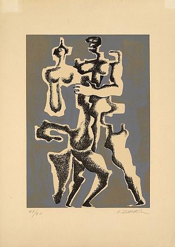 Ossip ZADKINE (Vitebsk, 1890- Paris, 1967) IMAGE FURTIVE, 1962