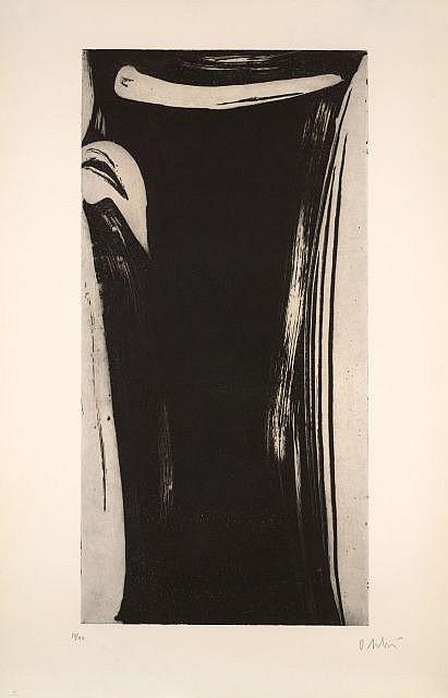 Olivier DEBRE (1920-1999) GRAND SIGNE-PERSONNAGE III et IV, 1990
