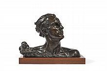 Alexandre OULINE (Belgique XXème) Buste de Jean Mermoz