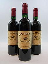 12 bouteilles CLOS DU MARQUIS 1986 Saint Julien (dont 3 base goulot) Caisse bois d'origine