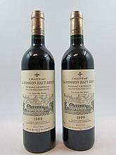 2 bouteilles CHÂTEAU LA MISSION HAUT BRION 1999 CC Pessac Leognan