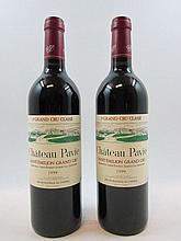 2 bouteilles CHÂTEAU PAVIE 1999 1er GCC (B) Saint Emilion