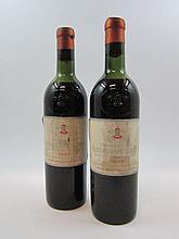 2 bouteilles CHÂTEAU PAPE CLEMENT 1955 CC Pessac Léognan (mi-épaule