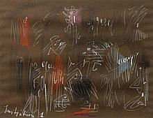 André MASSON 1896 - 1987 INITIATION 1 - 1956 Pastel sur papier brun