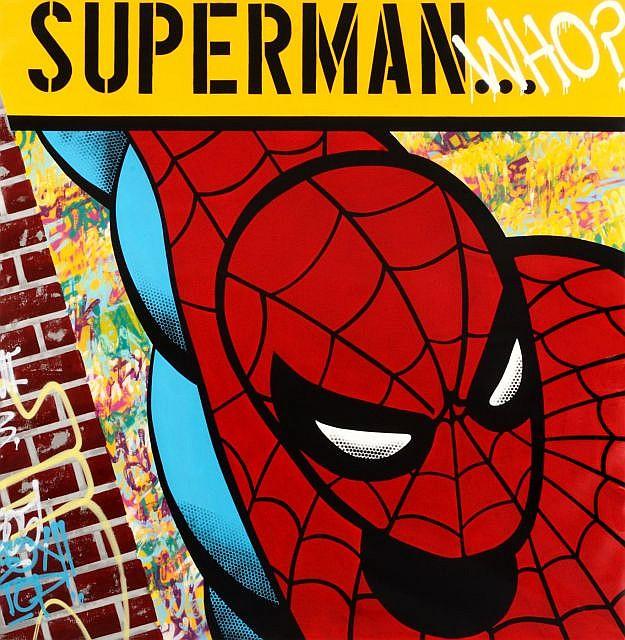 SEEN (Richard Mirando dit) (né en 1961) SUPERMAN WHO, 2009 Peinture aérosol sur toile