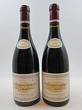 2 bouteilles 1 bt : NUITS SAINT GEORGES 2005 1er cru Clos de la Maréchale. Jacques Frédéric Mugnier (étiquette légèrement griffée taché