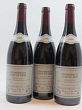 3 bouteilles CHAMBERTIN 2006 Grand Cru Clos de Beze