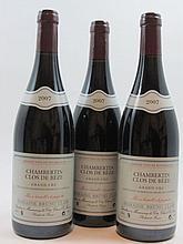 3 bouteilles CHAMBERTIN 2007 Grand Cru Clos de Beze
