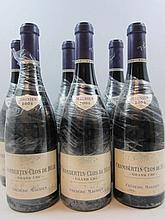 6 bouteilles CHAMBERTIN CLOS DE BEZE 2005 Grand Cru