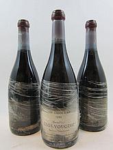 3 bouteilles CLOS VOUGEOT 1999 Grand Cru