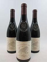 3 bouteilles COTE ROTIE 1999 La Landonne