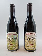 2 bouteilles COTE ROTIE 2005 Domaine Jamet (dont 1 très tachée)