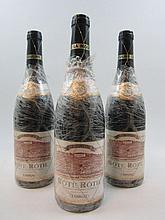 3 bouteilles COTE ROTIE LA MOULINE 2003 Guigal (film plastique sur étiquettes)