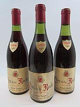 3 bouteilles CLOS DE LA ROCHE 1964 Grand Cru