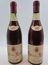 8 bouteilles CLOS DE LA ROCHE 1966 Grand Cru