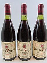 6 bouteilles CLOS DE VOUGEOT 1983 Grand Cru