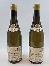 2 bouteilles 1 bt : CHABLIS 2004 1er cru Butteaux. Domaine Raveneau