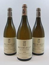 3 bouteilles MEURSAULT 2004 Clos de la Barre