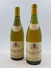 6 bouteilles 4 bts : MEURSAULT 1990 1er cru Perrières. Pierre Matrot (étiquettes léger tachées)