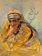 Lucien LEVY-DHURMER (Alger, 1865 - Le Vésinet, 1953) Jeune femme, 1929 Pastel sur papier