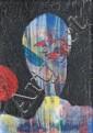 Max ERNST (Brühl, 1891 - Paris, 1976) TETE, 1957 Huile et bitume sur toile